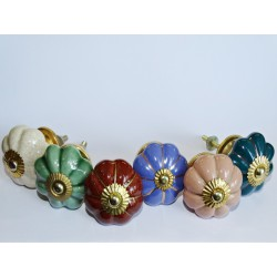 Lot de 6 boutons en porcelaine - Lot 41