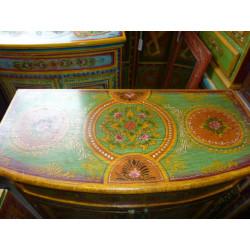 Parrure de lit 'square' bleu - orange - bordeaux
