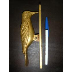 patère 10x10cm 4 fleurs jaunes 1 turquoise