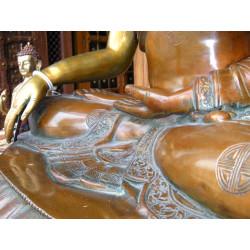 8x8 cm Turquoise 2 fleurs jaunes
