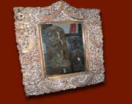 Miroirs indiens peints á la main ou sculpté. Miroirs anciens ou neufs réalisés grâce aux techniques artisanales indiennes.